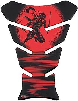 Tankpad 3d 500962 Ninja Red Rot Samurai Schwert Universell Für Yamaha Honda Ducati Suzuki Kawasaki Ktm Bmw Triumph Und Aprilia Tanks Auto