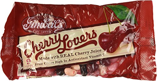 2 - 13oz Bags Gimbal's Cherry Lovers Heart Shaped Jelly Bean
