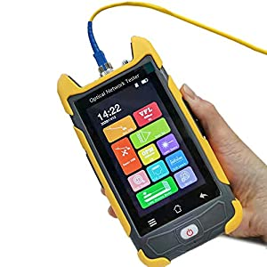 D YEDEMC New Arrival Mini-Pro OTDR 1310/1550nm 28/26dB 4.3 inches Touch Screen Test Rang 5m-100Km Optical Network Tester Built in OPM/OLS / RJ45 / VFL With FC/APC-FC/UPC-SX & FC/SC/LC/ST Adapter