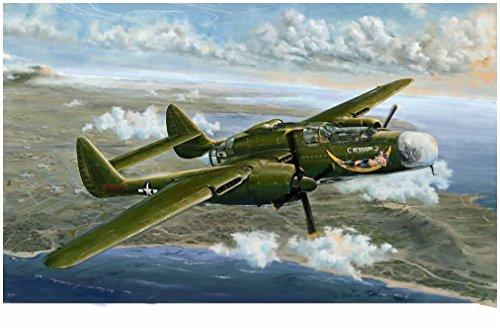 グレートウォールホビー 1/48 第二次世界大戦 アメリカ陸軍 P-61A ブラックウィドウ グラスノーズ プラモデル L4806の商品画像