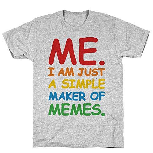 LookHUMAN Simple Meme Maker XL Athletic Gray Men's Cotton Tee -