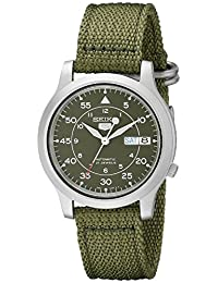 Seiko Men's SNK805 5 Automatic Stainless Steel Watch with Green Canvas Strap