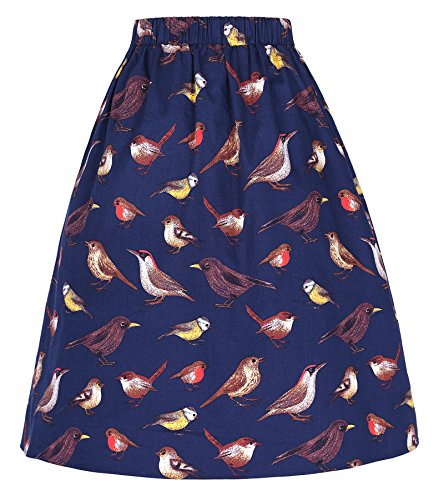 gli base Blu KARIN esterno rughe pannello uccelli di Vintage CL401 modello GRACE con x8nSqU6Wq