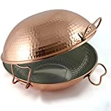 Original portuguese copper cataplana pan vitroceramic 10''inch