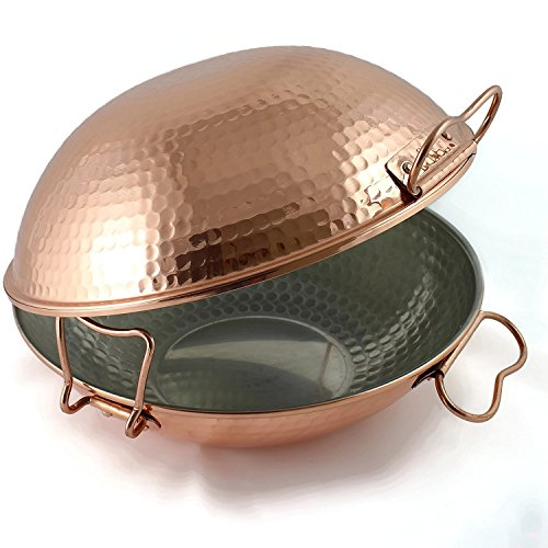 Original portuguese copper cataplana pan vitroceramic 10''inch by Jfs