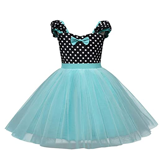 Hatoys Baby Girl Lovely Lace Dot Party Vintage Vestidos Princess Tulle Tutu Dresses(3 Years