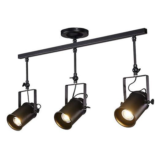 Amazon.com: Lámpara de techo retro vintage de hierro forjado ...
