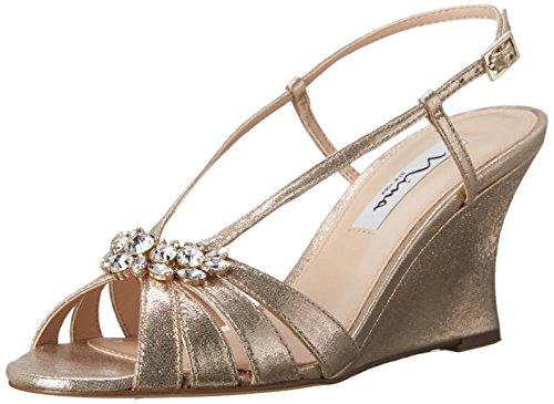 Nina Women's Viani Wedge Sandal Taupe U8bKwRyL7a