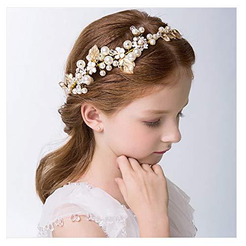 - Campsis Cute Princess Wedding Headpiece Leaves Bridal Headband Bride Wedding Hair Accessories Wedding Tiaras for Flower Girl and Women.