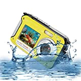 Underwater Camera Full Hd 1080P Waterproof Digital Camera 24.0MP Underwater Digital Camera Dual Screen Point and Shoot Waterproof Camera