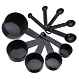 10pcs Black Plastic Measuring Spoon Cup Tool Cooking Scoop Kitchen