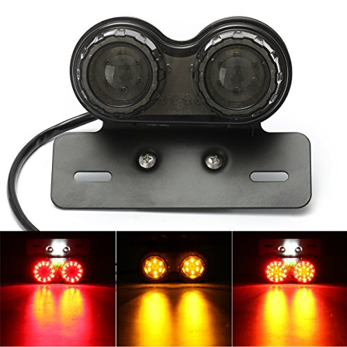 Hitommy Motorcycle 40 LED Rear Tail Stop Brake Light License Plate Lamp Bracket Holder - ()
