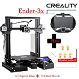 Luxnwatts Creality Ender-3X 3D Printer Ender 3 Upgrade with Tempered Glass 5PCS Nozzle with Resume Printing Function for School