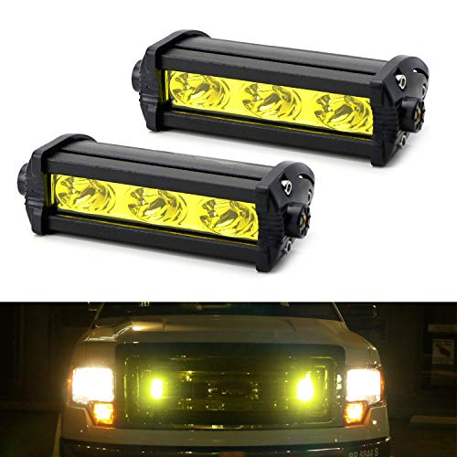 - iJDMTOY (2) High Power 3-CREE LED Daytime Running Light Kit For Behind The Grille or Lower Bumper Insert Area, 3000K Yellow