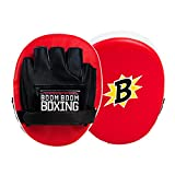 BOOM BOOM Boxing Bomber Micro Punch Mitts, Red/Black