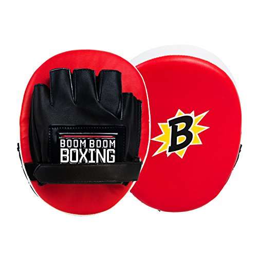BOOM BOOM Boxing Bomber Micro Punch Mitts, Red/Black by BOOM BOOM Boxing