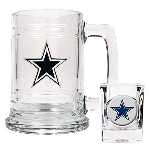 NFL Dallas Cowboys Boilermaker Set (Primary Logo)