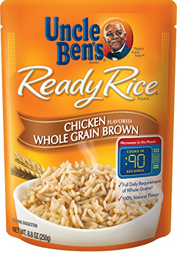 (Uncle Ben's Ready Rice: Chicken Whole Grain Brown Rice, Ready to Heat 8.8 Oz Pouches,Pack of 6)