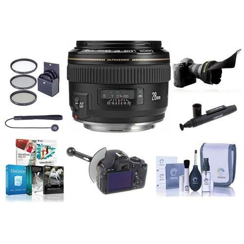Canon EF 28 mm f / 1.8 USMレンズバンドル。USA。値キットwith Accessories # 2510 a003   B00UF5ZMCQ