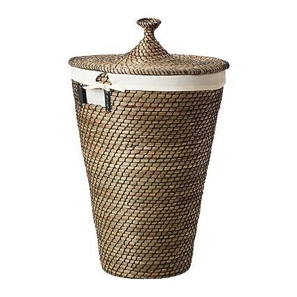 IKEA åsunden - cesta para la ropa sucia, junco marino - 50 l