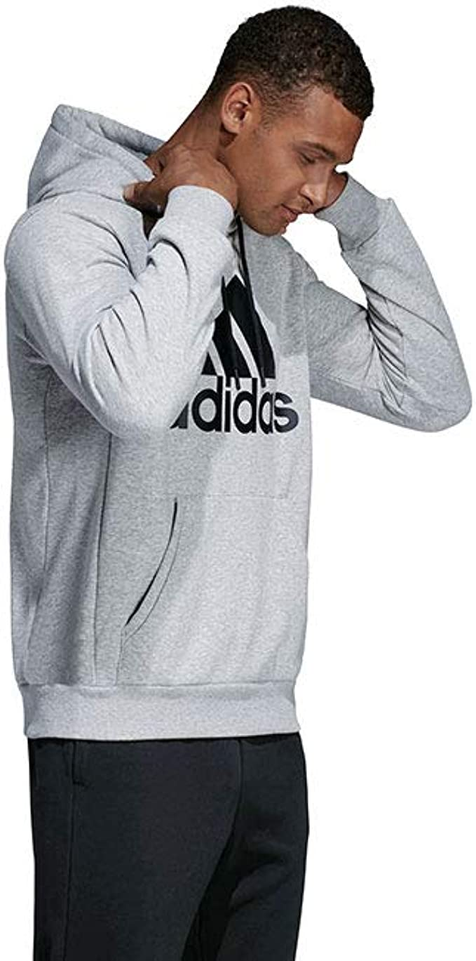 adidas Mens Athletics Essential Cotton Badge of Sport Sweatshirt