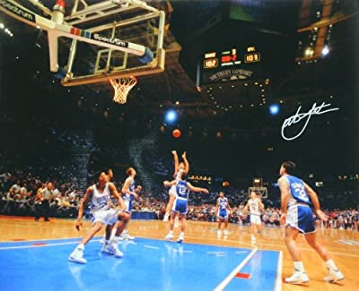 Christian Laettner Signed Duke 'The Shot' Full View Game Winner vs Kentucky 16x20 Photo
