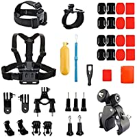 YFY 14-In-1 Basic Outdoor Sports Accessories Kit for GoPro Hero Cameras
