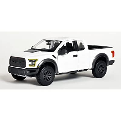 Maisto 2020 Ford Raptor Pickup Truck 1/24 Scale Diecast Model Car White: Toys & Games