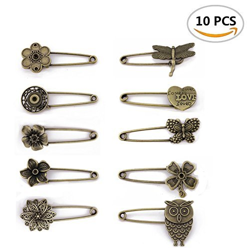 Fireboomoon 10PCS Bronze Vintage Hijab Pins /Brooch Pins/Safety Steampunk Findings. COACHING ADVANTAGES INC 4336831763