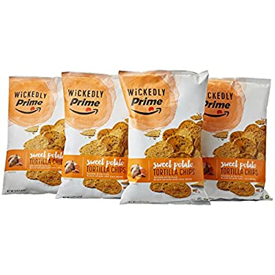 Wickedly Prime Sweet Potato Tortilla Chips, 13 Ounce (Pack of 4) from Amazon