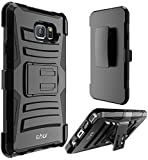 Note 5 case, E LV Galaxy Note 5 (HOLSTER DEFENDER) - SHOCK PROOF / IMPACT RESISTANT Holster Protection with Belt Clip and Kickback Stand - case cover for Samsung Galaxy Note 5 - BLACK