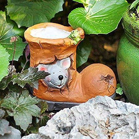 Estatuas para Jardín Botas Tiesto Impermeable Jardín Esculturas para El Patio del Césped del Paisaje del Jardín Artesanía Regalo De Los Ornamentos A: Amazon.es: Hogar