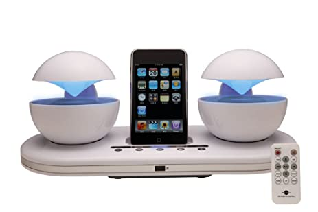 Amazon.com: Speakal iCrystal 30-Pin iPod Speaker Dock (White): Home ...