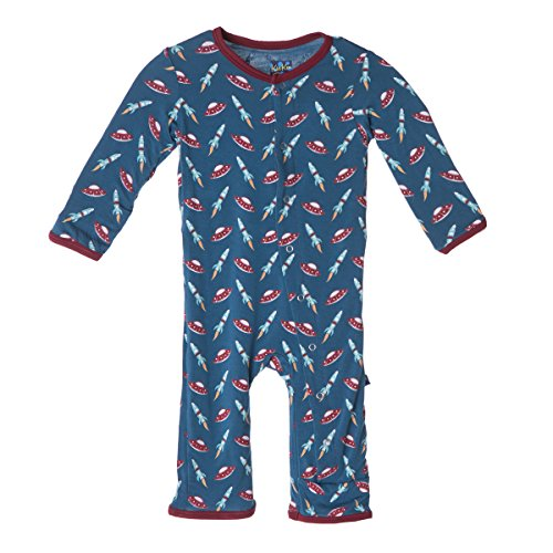 Kickee Pants Footless Coveralls, Twilight Space Travel, 4T by Kickee Pants (Image #1)