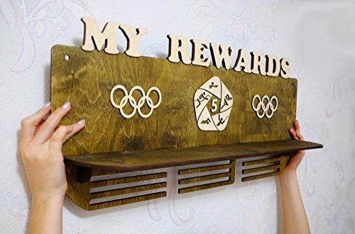 Trophy shelf Personalized Medal Display, Personalized Name Medal Holder, Trophy Display, Custom Medal Holder, medal hanger by SAFIRUSSTUDIO