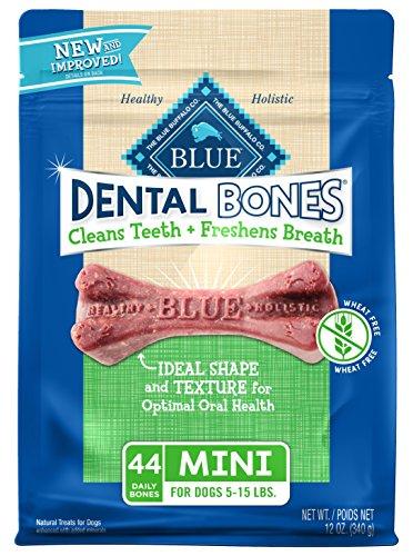 Chews Soft Mini (Blue Dental Bones Adult Mini Dental Chew Dog Treat 12-Oz (Package May Vary))