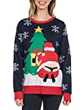 Tipsy Elves Women's Winter Whale Tail Sweater - Funny Santa Ugly Christmas Sweater: Medium