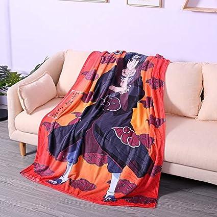 E Shuihua-Blankets Couverture Naruto Uzumaki Naruto Sasuke Itachi 80 * 120cm pour l/'Automne et l/'Hiver Flanelle Couverture d/'Hiver pour Enfant