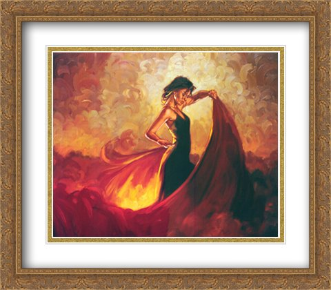 Sevilla 2x Matted 36x28 Large Gold Ornate Framed Art Print by Mark Spain by ArtDirect