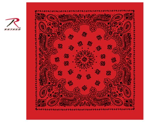 ana, Red with Black Print (Black Trainmen Bandana)