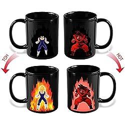 Set of 2 Vegeta and Goku Dragon Ball Z Color Changing Heat Reactive Coffee Mug