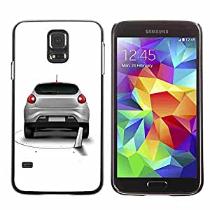 Shell-Star ( Cool Funny Saw Car Prank Hole ) Fundas Cover Cubre Hard Case Cover para Samsung Galaxy S5 V SM-G900