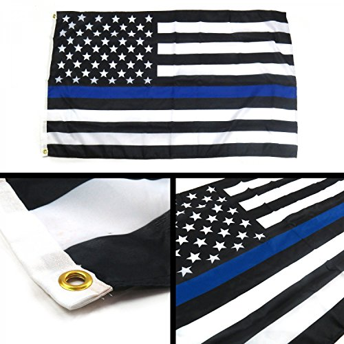 - Banner Direct LLC 268798 Police Thin Blue Line American Flag