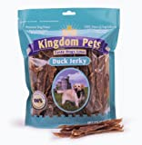 Kingdom Pets Premium Dog Treats, Duck Jerky (Pack of 6, 4-Ounce Bags), My Pet Supplies