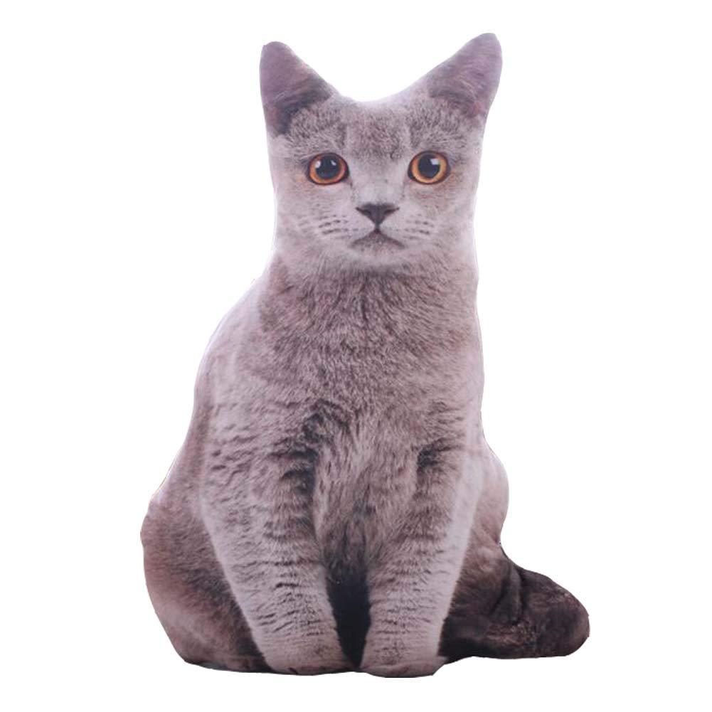 East Majik Animal Pillow Simulation 3D Plush Toy Cute Cat Shape Pillow #1