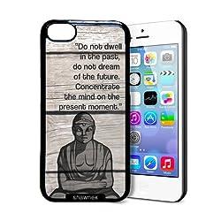 Shawnex Wood Background Buddha Quote iPhone 5C Case - Thin Shell Plastic Protective Case iPhone 5C Case