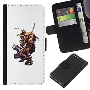 KLONGSHOP // Tirón de la caja Cartera de cuero con ranuras para tarjetas - Elm Street Killer - Apple Iphone 5C //