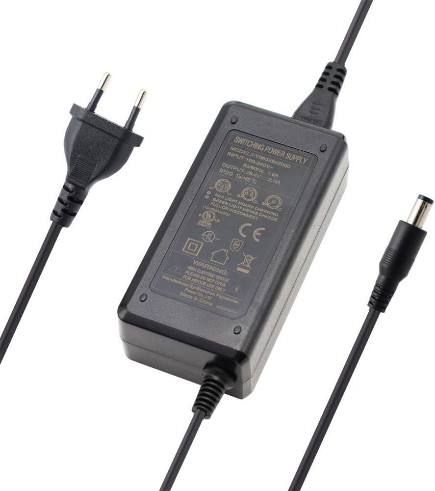 Abakoo - Cargador adaptador de red (100-240 V CA a CC, 29,4 V, 2 A, para baterías de 24 V, 7 Series, batería de iones de litio para recargar baterías Pedelec)