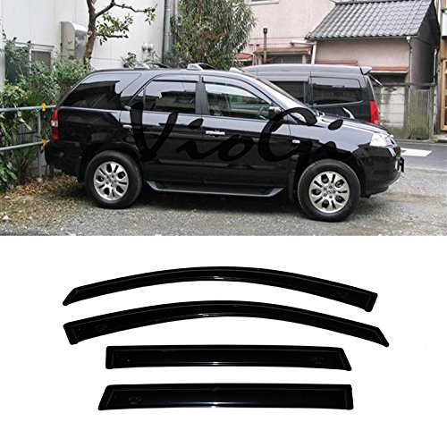 (Mgpro 4pcs Out-Channel Reinforced Acrylic Sun Rain Guard Vent Shade Window Visors for 07-13 Acura)