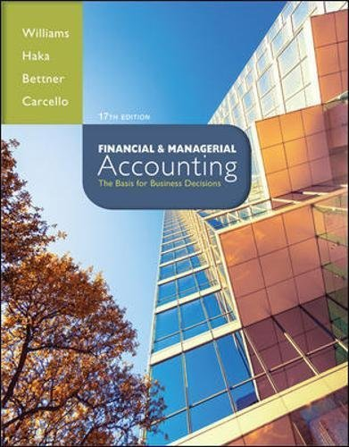 By Jan Williams Financial & Managerial Accounting (17th Seventeenth Edition) [Hardcover]